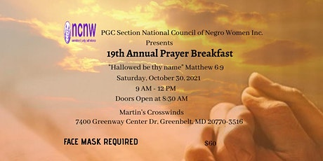 PGCS MD NCNW 19th Annual Prayer Breakfast tickets