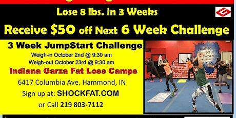 3 Week Jump Start Challenge was $127, Now  $99. Starts October 2nd tickets