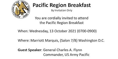 AUSA Pacific Region Forum - (Breakfast portion canceled) tickets
