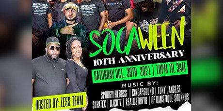 SOCAWEEN 10TH ANNIVERSARY tickets