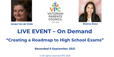 VPC Live On Demand – Creating a Roadmap to  High School Exams – Dianna Daou