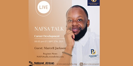 NAFSA Talks - Career Dvpt with Marcell (ProDeveloped) tickets