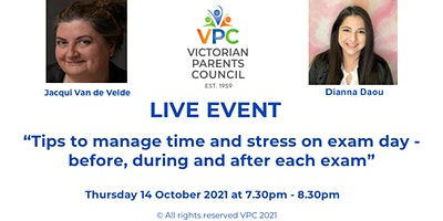 VPC Live:  Exams Day Tips – before, during and after with Dianna Daou