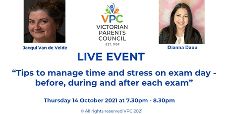 VPC Live:  Exams Day Tips - before, during and after with Dianna Daou tickets