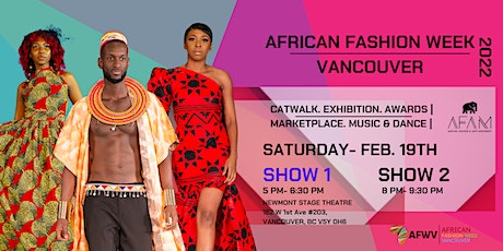 AFAM African Fashion Week Vancouver 2022 tickets