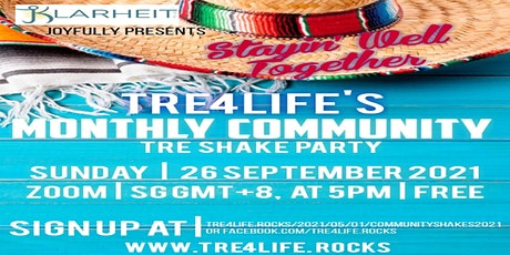 TRE4Life Monthly Community Shake September Zoom Edition tickets