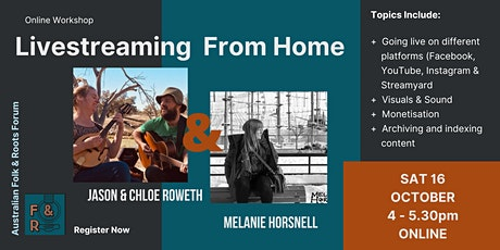 Livestreaming From Home (for Musicians) tickets