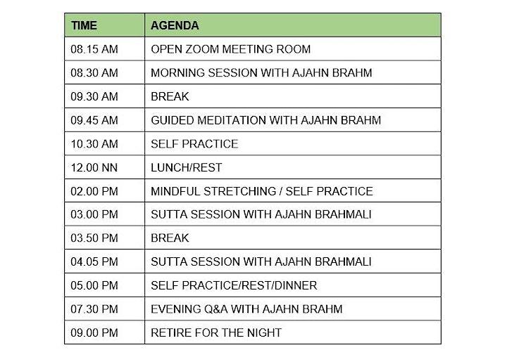 Year-End Retreat 2021 with Ajahn Brahm and Ajahn Brahmali via Zoom image