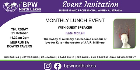 BPW North Lakes October Lunch with Guest Speaker Kate McKell tickets