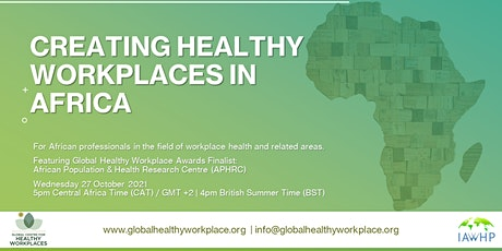 Creating Healthy Workplaces in Africa tickets