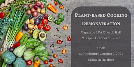 Plant-based  Cooking Demonstration tickets