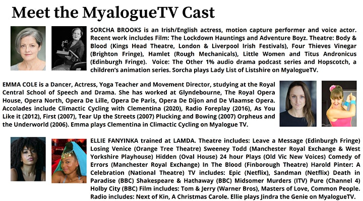 """MYALOGUE TV - Comedy Screening & """"Meet The Characters"""" image"""