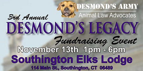 3rd Annual Desmond's Legacy Fundraising Event tickets