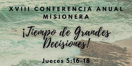 Conferencia Misionera entradas