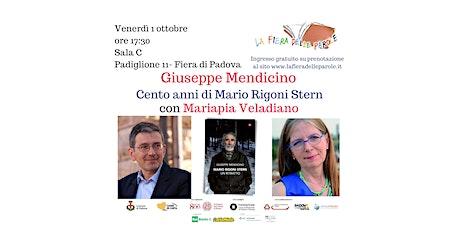 """Giuseppe Mendicino e Mariapia Veladiano  """"Cento anni di Mario Rigoni Stern"""" biglietti"""