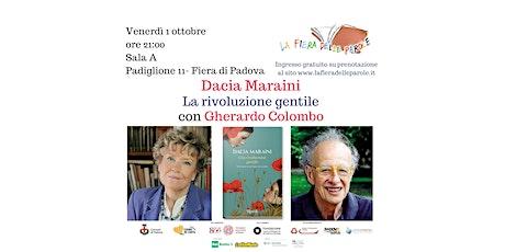 """Dacia Maraini  """"La rivoluzione gentile"""" con Gherardo Colombo biglietti"""