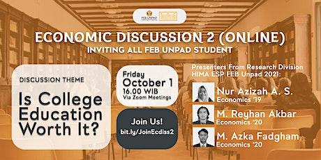 Economic Discussion 2 (Online) tickets