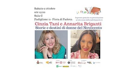 """Cinzia Tani e Annarita Briganti  """"Storie e destini di donne del Novecento"""" biglietti"""