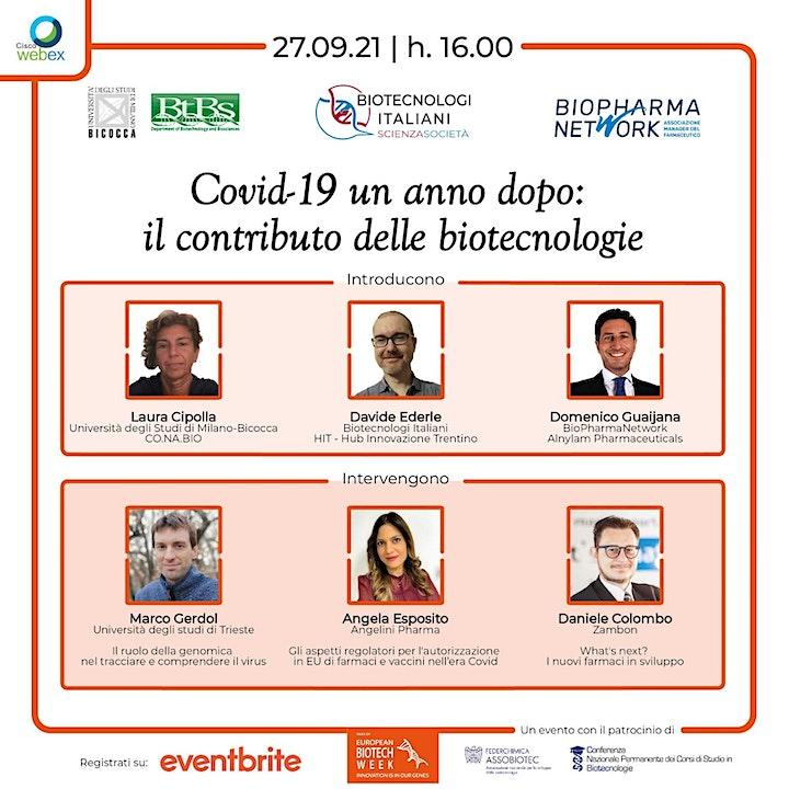 Immagine EBW 2021 | Covid-19 un anno dopo: il contributo delle biotecnologie