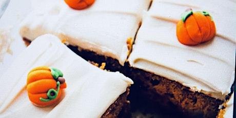 The Best  you'll ever eat-PUMPKIN SUGAR CAKE-Online Baking  Course tickets