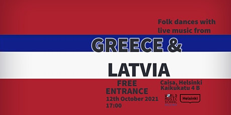 Folk Dances with Live Music from Greece & Latvia tickets