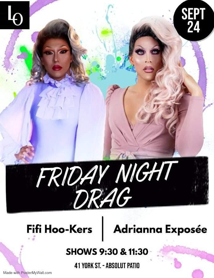 Friday Night Drag - Fifi Hoo-Kers & Adrianna Exposée - 9:30pm image