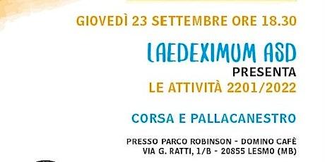 Presentazione attività Laedeximum 2021/2022 biglietti
