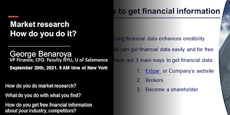 How do you do market research?  What do you do with what you find? tickets