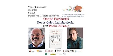 """Oscar Farinetti   """"Never quiet – La mia storia"""" con Paolo Di Paolo biglietti"""