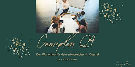Gameplan Q4 - der Workshop für dein erfolgreiches 4. Quartal Tickets