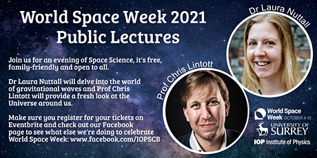 World Space Week Public Lectures with Dr Laura Nuttall & Prof Chris Lintott tickets