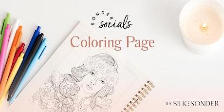 Sonder Social: Coloring Page tickets