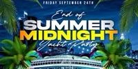 End of Summer Midnight Yacht Party at the Jewel Yacht tickets