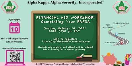 #CAP - Completing Your FAFSA Webinar tickets