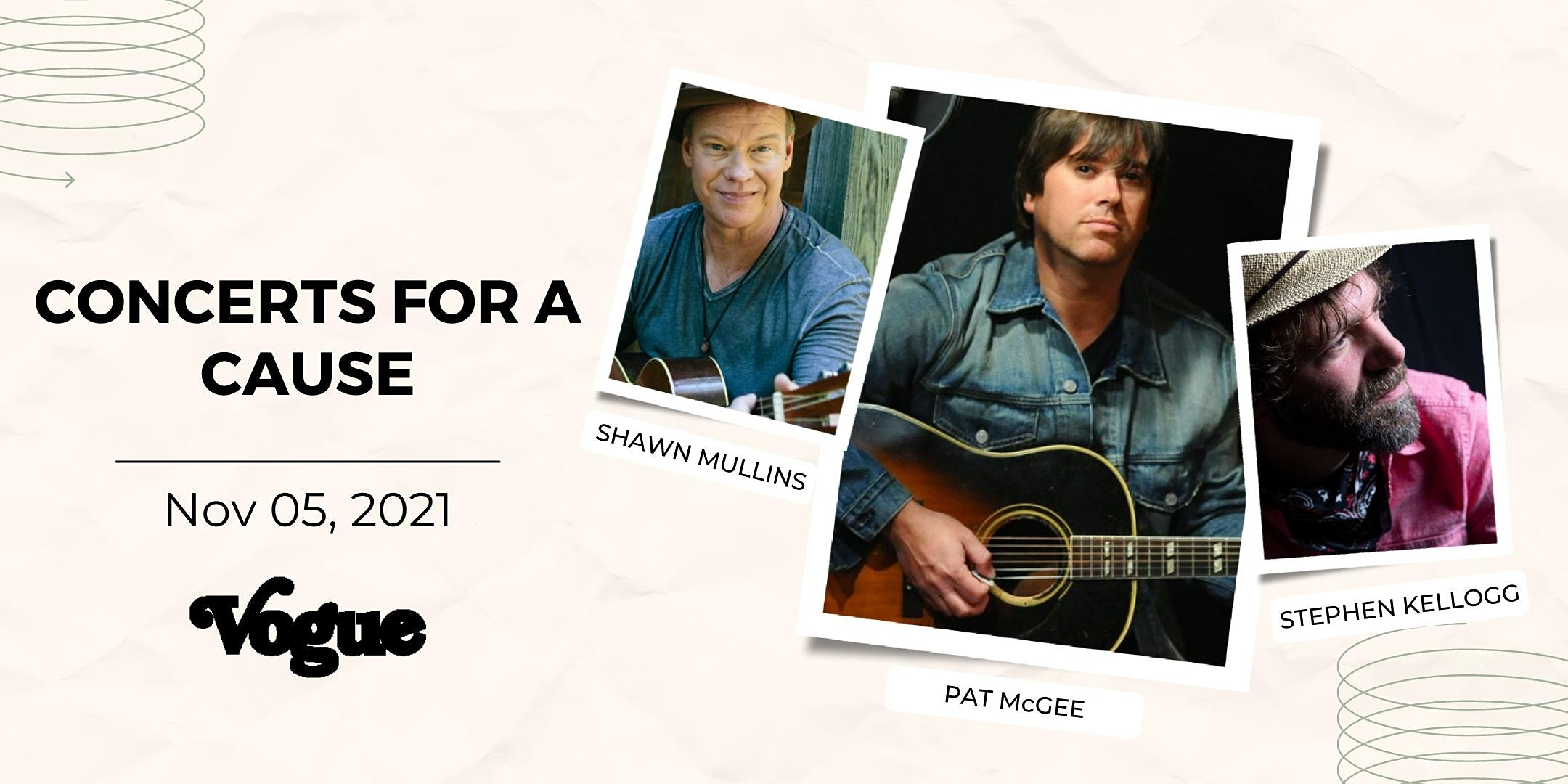 Concerts for a Cause with Pat McGee & Stephen Kellogg & Shawn Mullins