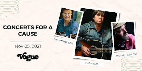Concerts for a Cause with Pat McGee & Stephen Kellogg & Shawn Mullins tickets