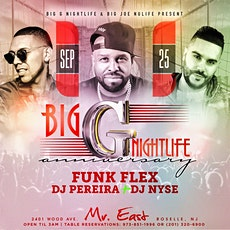 Latin Vibe Saturdays Big G Nightlife Company Anniversary At Mister East tickets