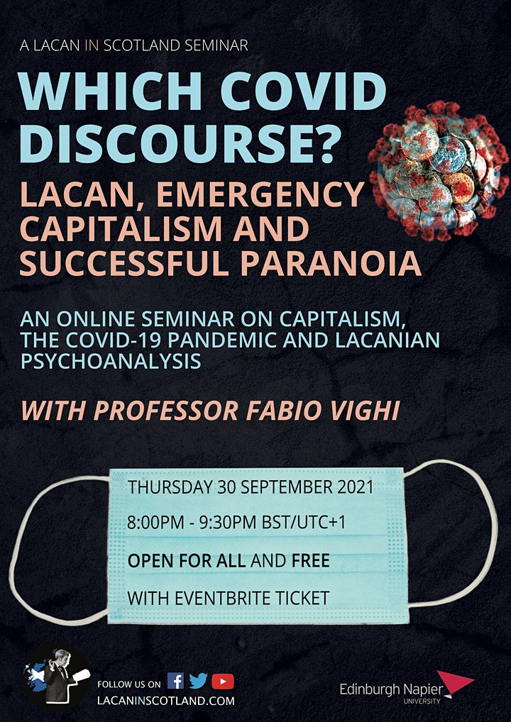 Which Covid Discourse? Lacan, Emergency Capitalism and Successful Paranoia image