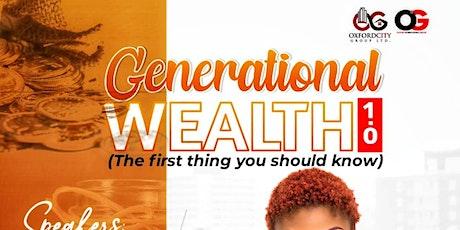 Generational Wealth tickets