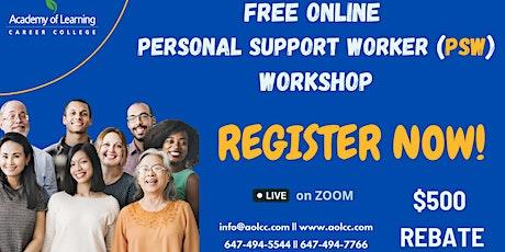 Free Online Personal Support Worker (PSW) Workshop tickets