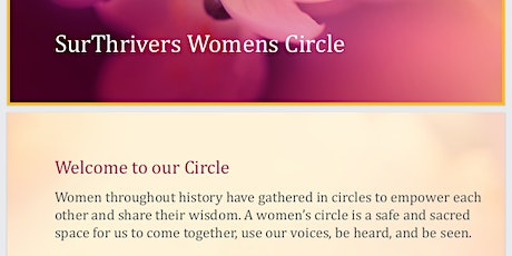 SurThrivers: Monthly Womens Circle for Survivors of Child Sexual Abuse tickets