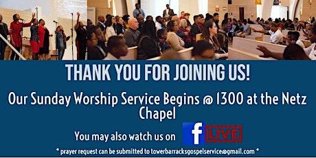 TBGS Sunday Worship Tickets