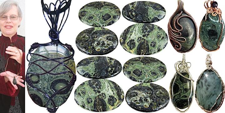 Kombaba Jasper Wire Wrap Class-Marggi Markowitz at Ipso Facto Sep 19, 6-9pm image