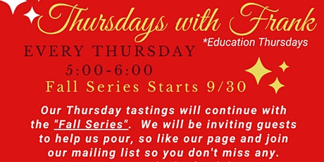 Thursdays with Frank Fall Series tickets