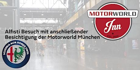 Ausfahrt Motoworld München und Alfisti Besuch Tickets