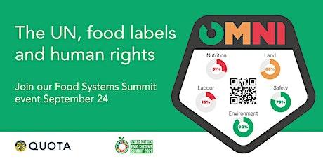 UN Food Systems Summit: Omni-Framework- unleashing consumer power tickets