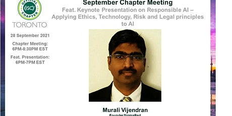 (ISC)2 Toronto Chapter: September 2021 Chapter Meeting tickets