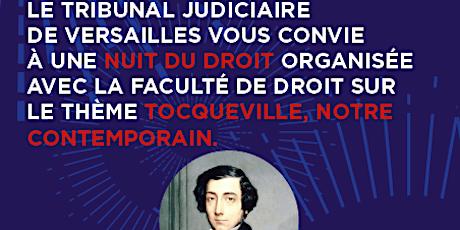Nuit du droit à Versailles : Tocqueville, notre contemporain billets