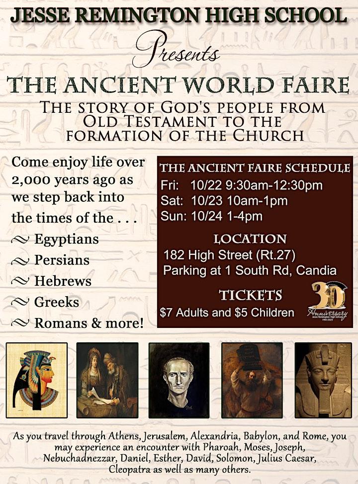 JRHS Presents: The Ancient World Faire image