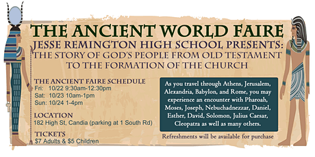 JRHS Presents: The Ancient World Faire tickets